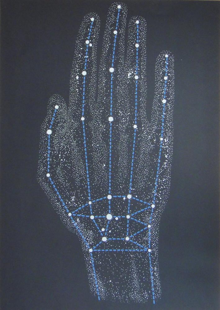 1979, Súhvezdioe ruky pre Vladimíra Boudníka, serigrafia, 100x70 cm