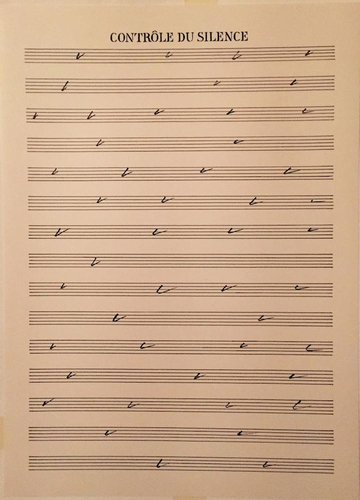 1977 - 78, Controle du Silence, kombinovaná technika na papieri, 45x33,5 cm