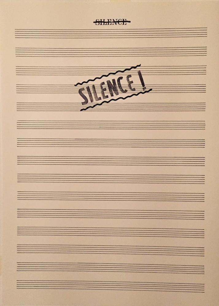 1977 - 78, Silence, komb. tech, 45x33,5 cm