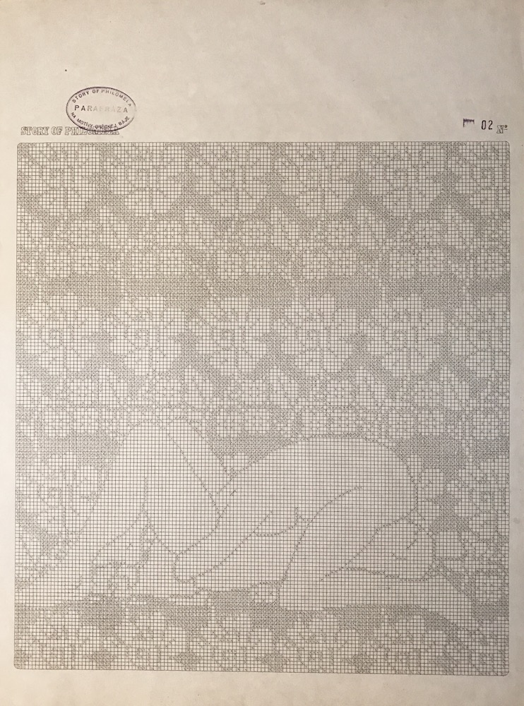 1971, polohy, kresba na papieri, 58x44 cm