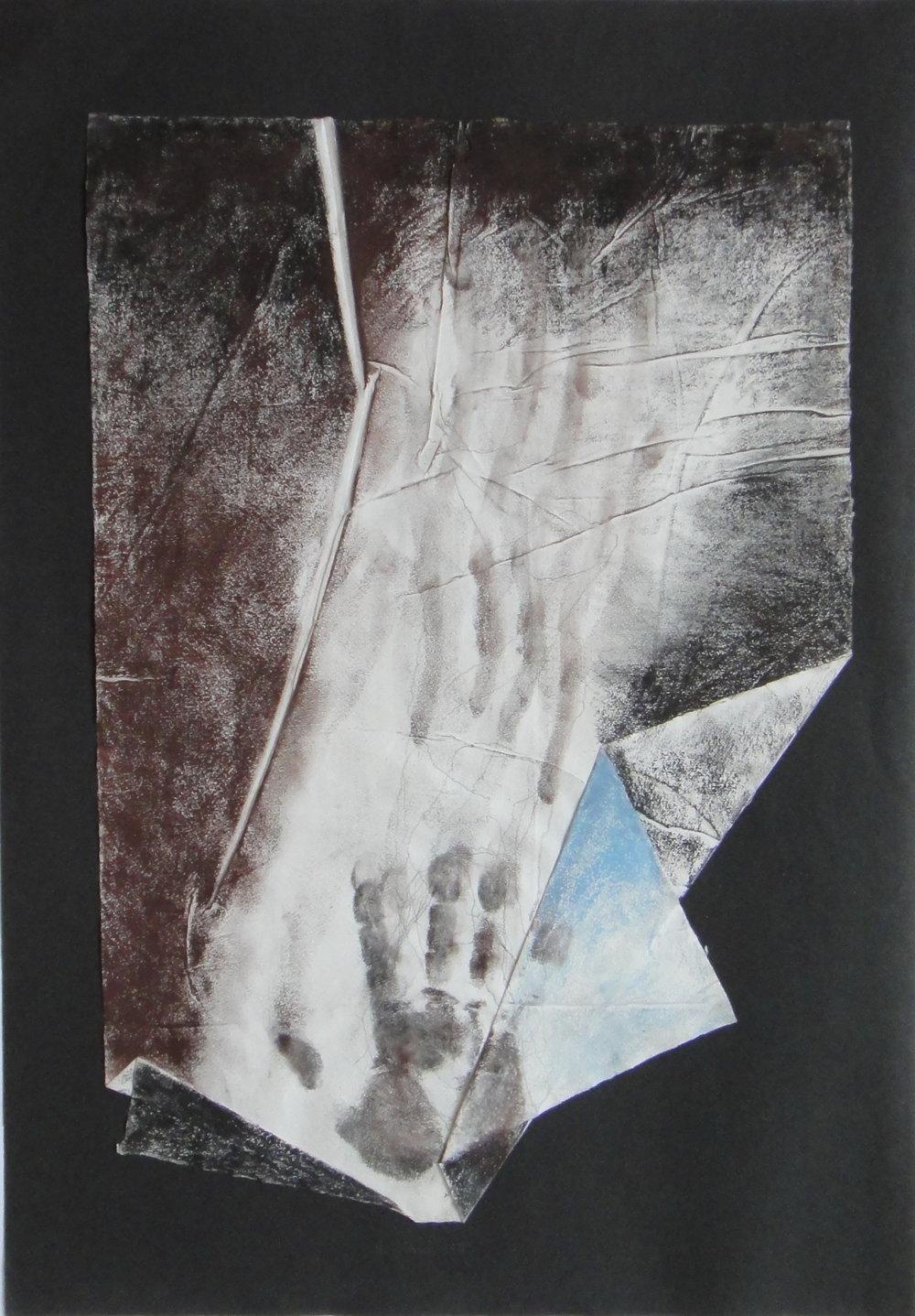 Kern Michal, 1993, Kresba z jaskyne, komb tech, 57x40.jpg