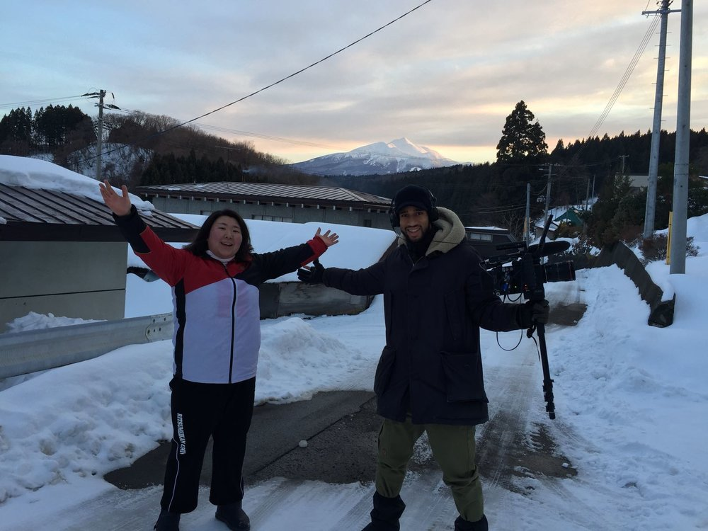 MATT AND HIYORI ON LOCATION IN AOMORI, NORTHERN JAPAN