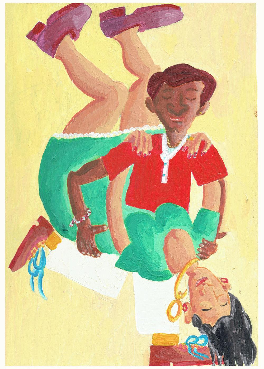 Laurentina & Faustino (Six Dancers rectangular print)