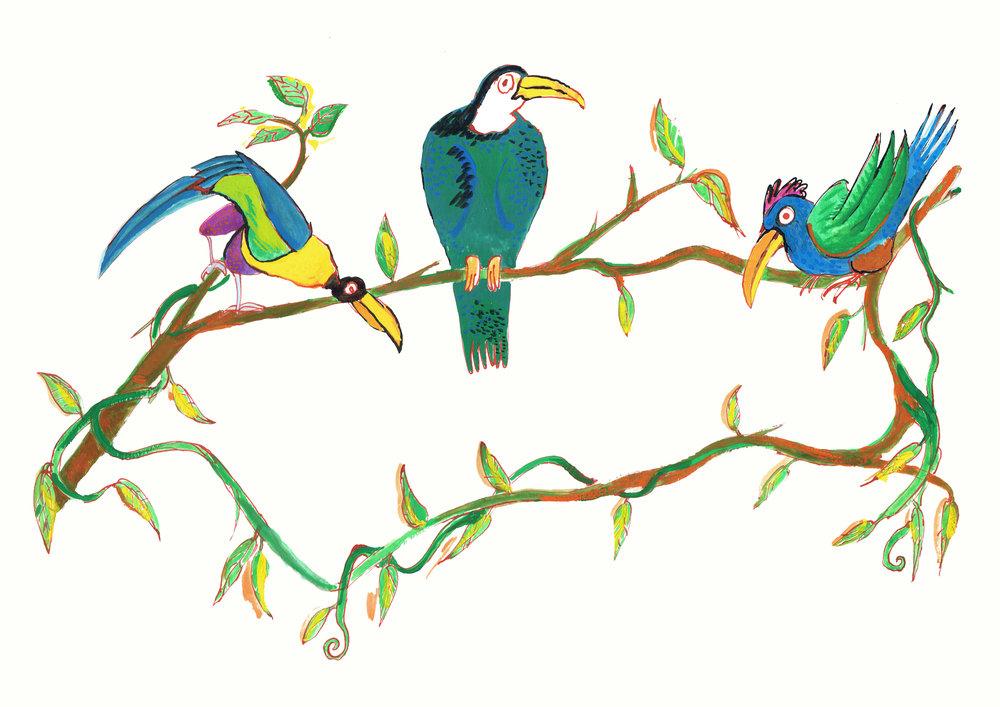 Anne's Birds (print)