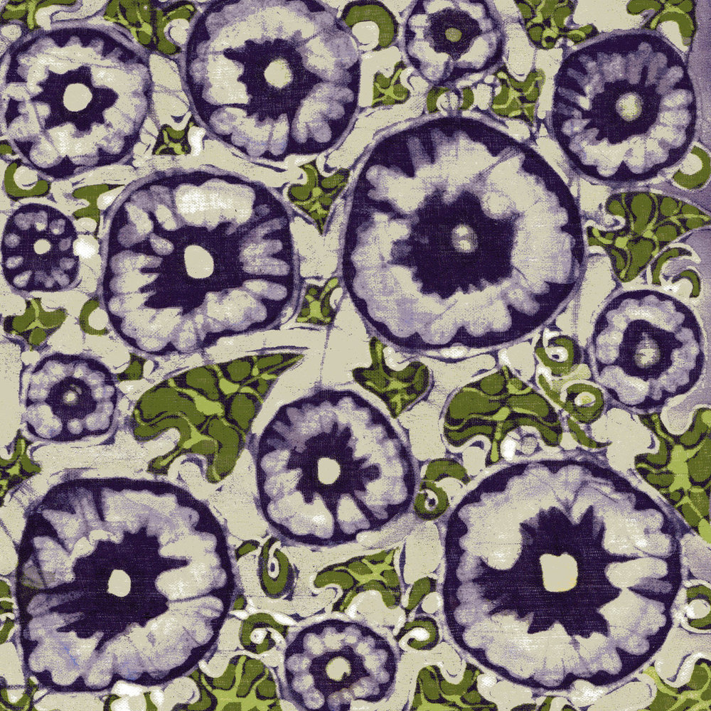 'Purple Bindweed' batik painting.jpg