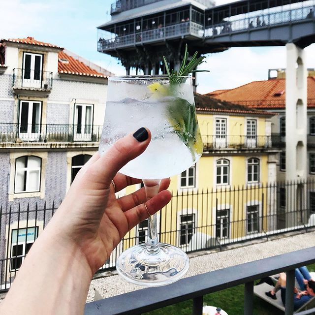 Gin and tonic. Lisbon, Portugal.