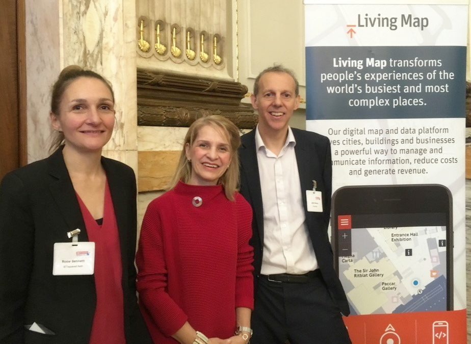 Rosie Bennett,  Bath SETsquared Centre Director and Wera Hobhouse, MP for Bath with Jake Ronay, CCO for Living Map
