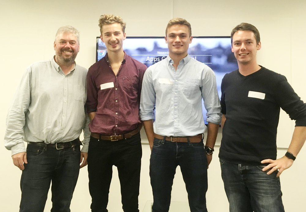 L - R Richard Godfrey from Rocketmakers, Winners Will Love, Matt Barlow from LivePrize, Dave Kelly from Storm