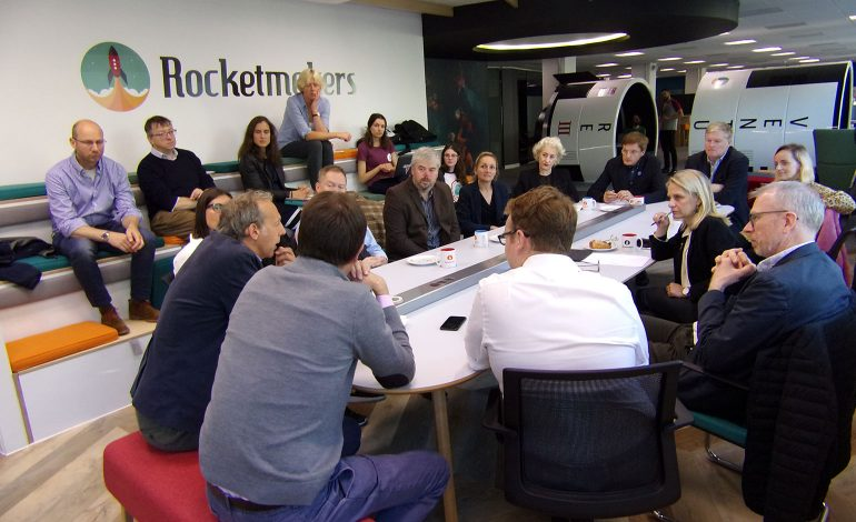 The breakfast roundtable was hosted by tech development and agency, Rocketmakers