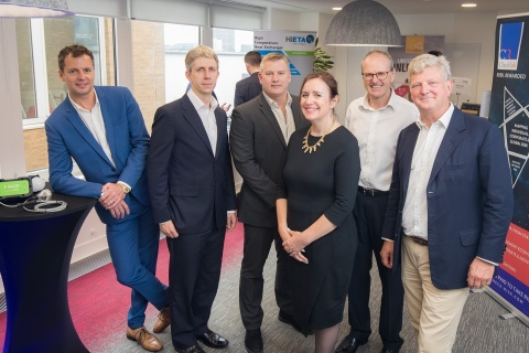 Pictured (L-R): Marc Ive – Rezzcomm, Gareth Williams – YellowDog, Steve Parsons - Greengage Lighting, Karen Brooks - SETsquared Partnership, Mike Adams - Hieta Technologies and Nick Bullman - CheckRisk