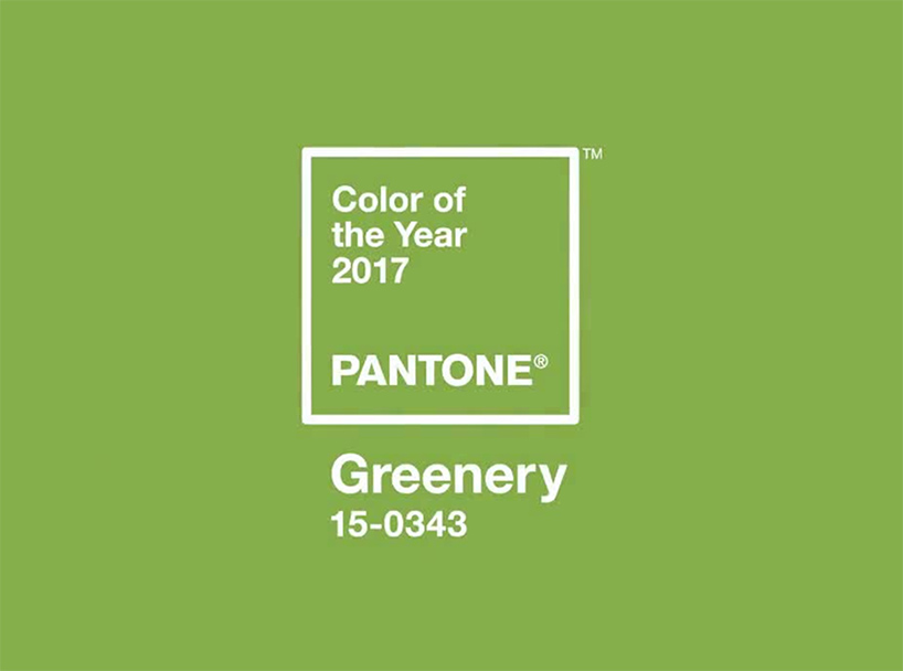 Pantone 2017n Colour of the year Greenery