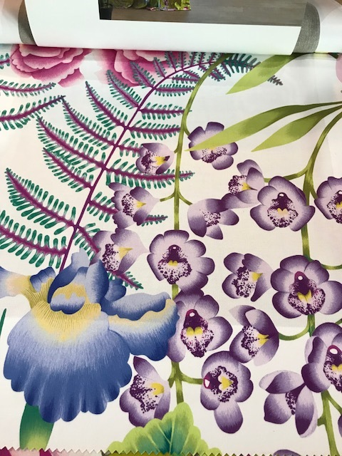 Picture 4 - Harlequin Zapara Collection. Amaryllis fabric.