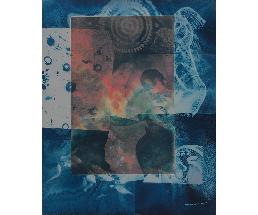 At the End One Has to Return, 1997. Cyanotype on paper, 22 x 18