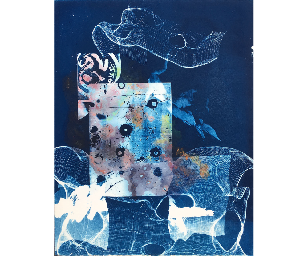 Fluctuation, 1996. Cyanotype, 24 x 18