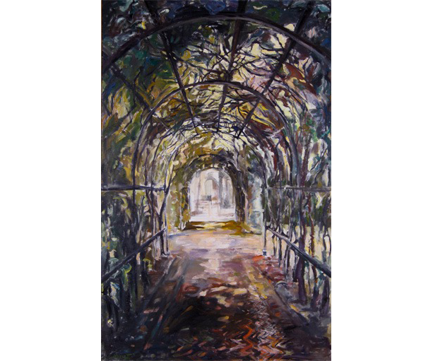 Pergola I, Oil and Acrylic on Canvas, 2015. 60 X 38