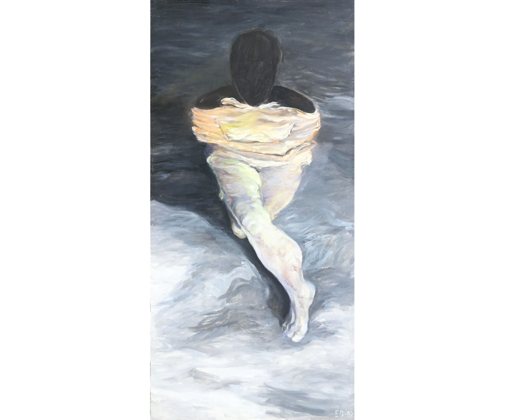 Luminous Figure, 1997, Oil on canvas. 66 x 32