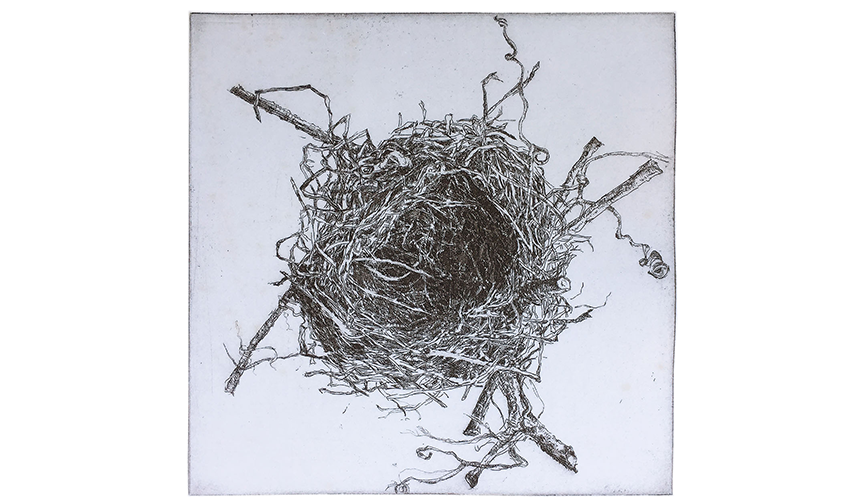 Round Nest, 1998, Lithograph, 6 x 6