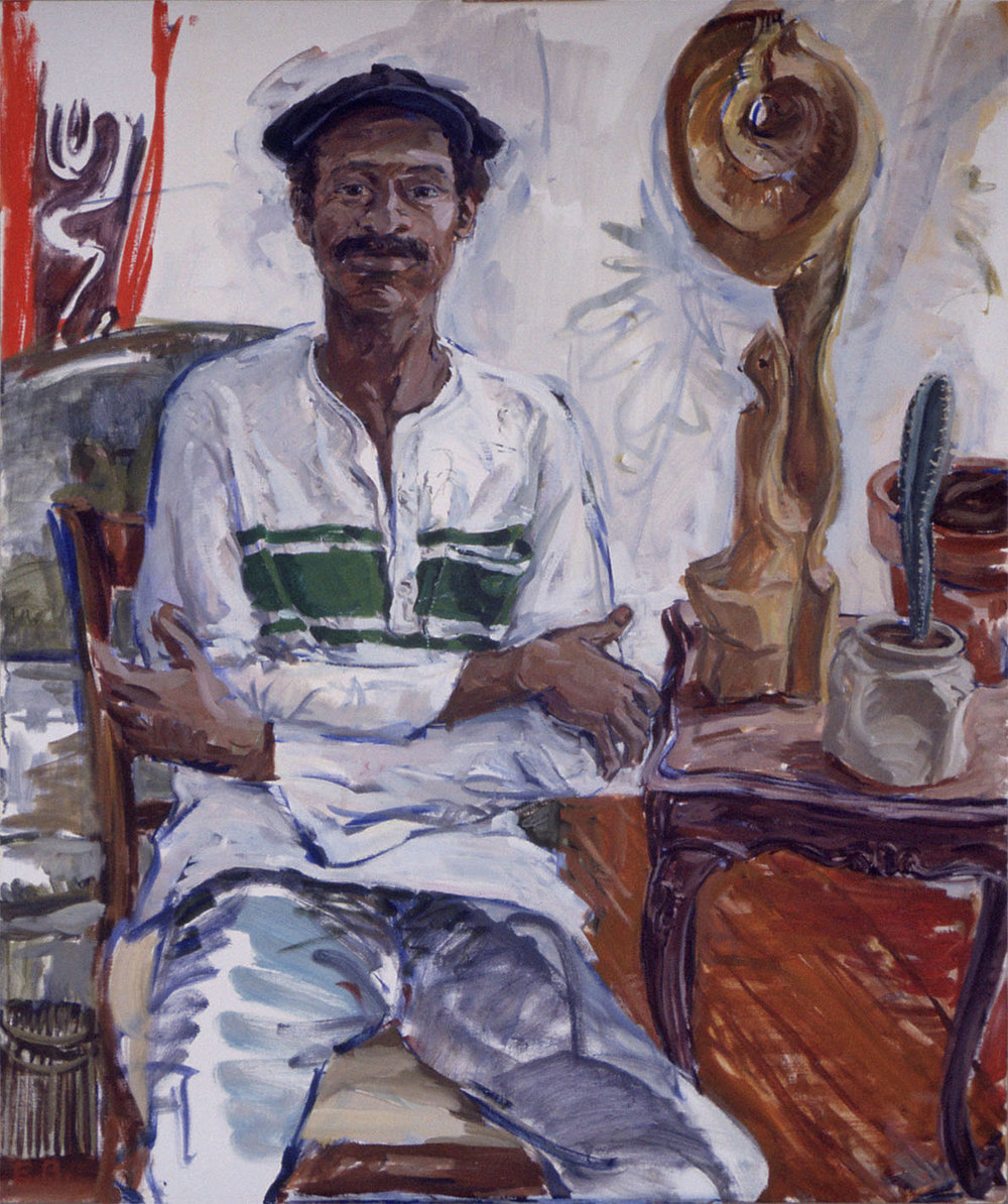 "Emerson Bell, 1978, Oil on Canvas, 48"" x 44"""