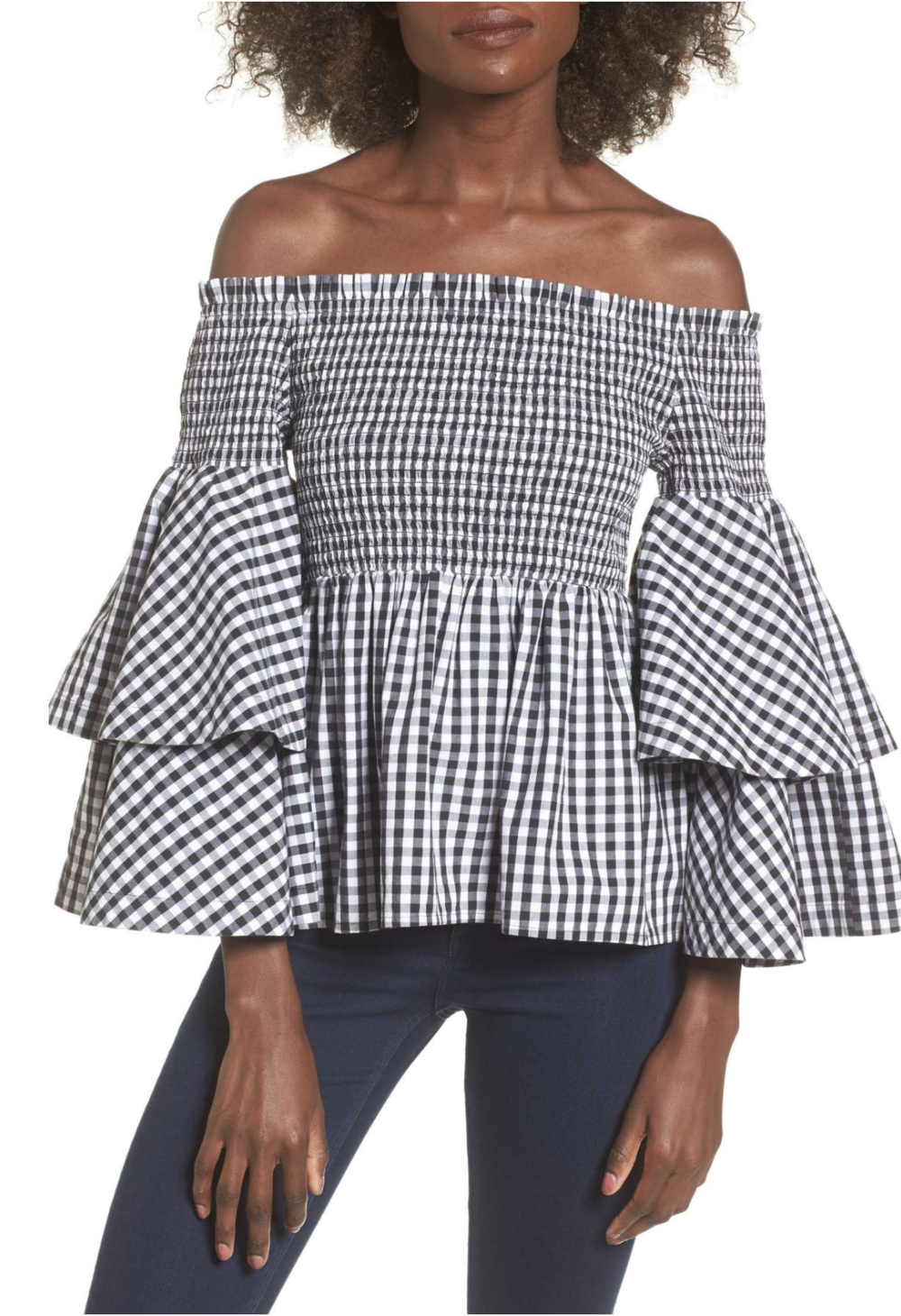 Statement Top - What I love most about this Style Keepers top is that it brings the drama in such a chic way. The belted version I am wearing is sold out, but Nordstrom still has the belt-less version, plus it's on sale for $32.98!
