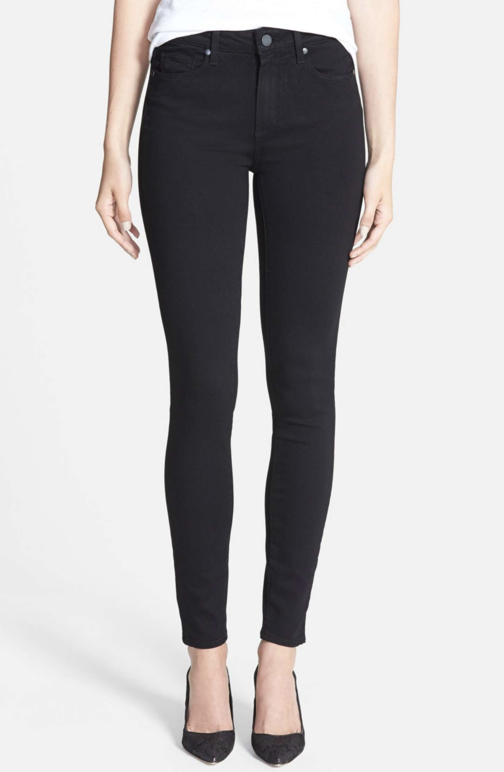 High RiseSkinnies - Paige is one of my favorite denim brands because they are so comfortable and they make the booty look good! These black skinnies are a staple that you can wear throughout the year.