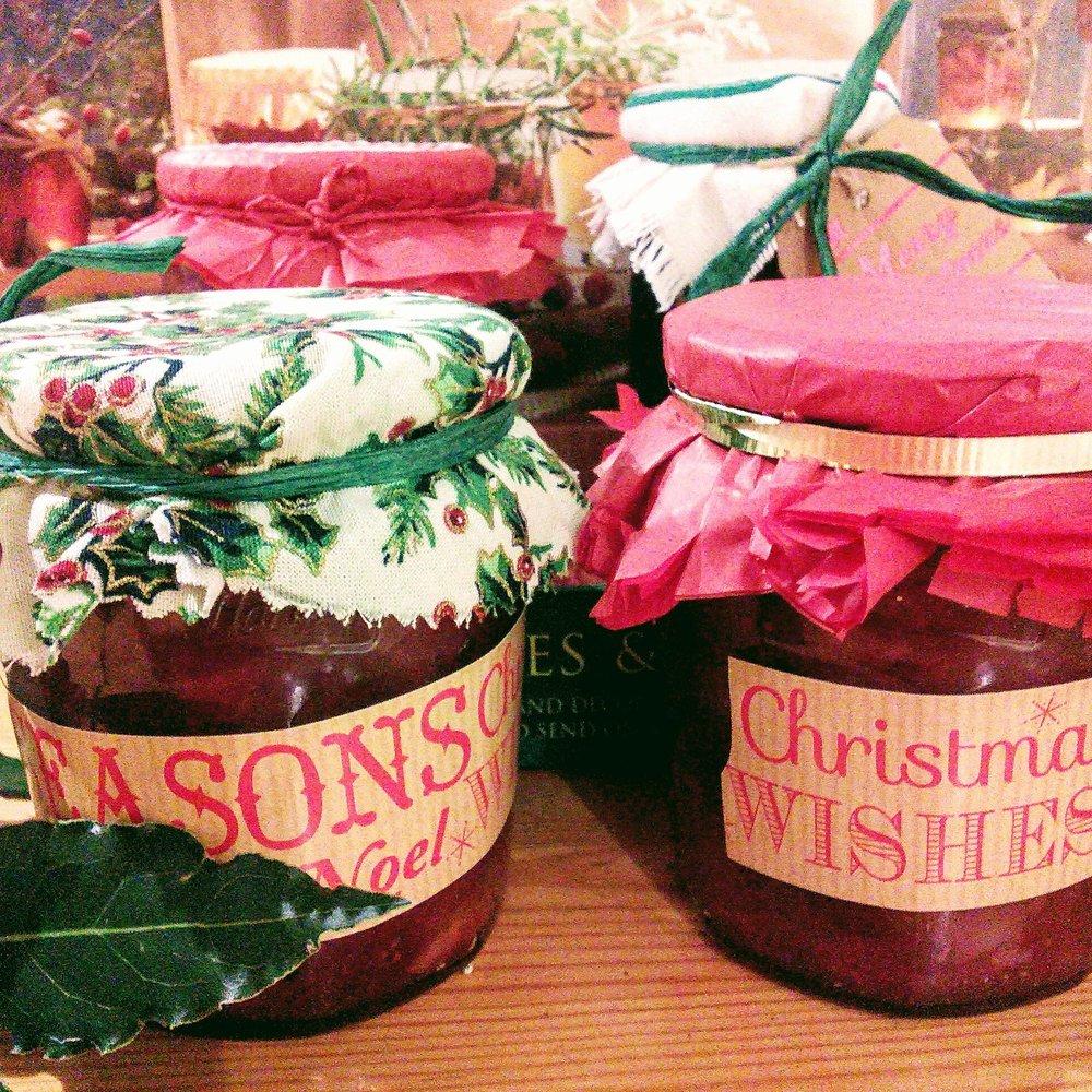 Christmas jam and chutney making