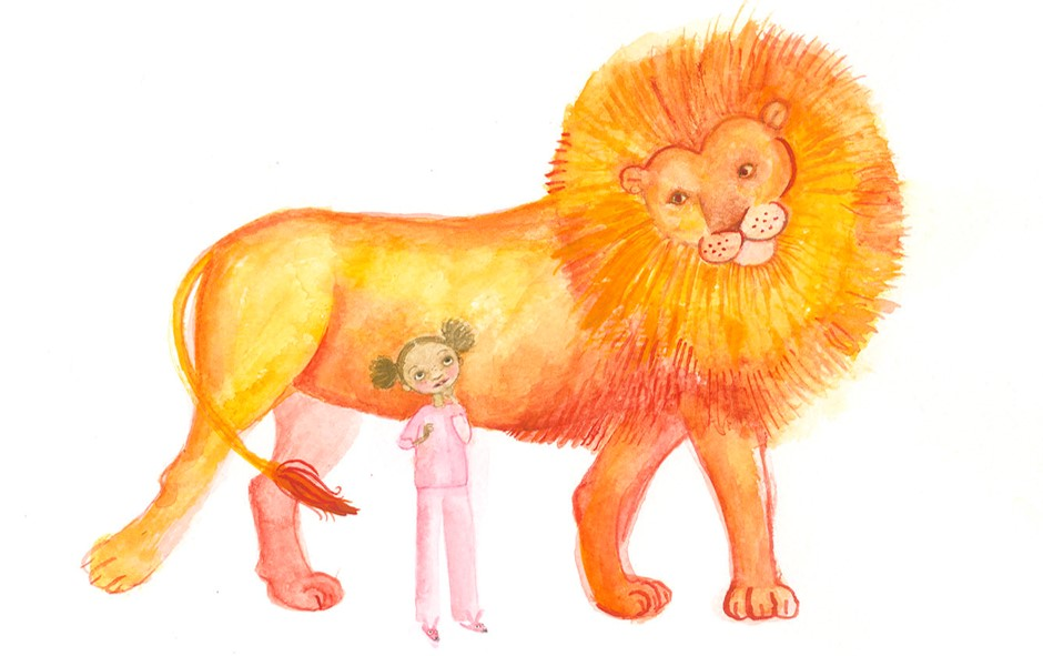 Malaika and the Archangel Michael (as a lion)