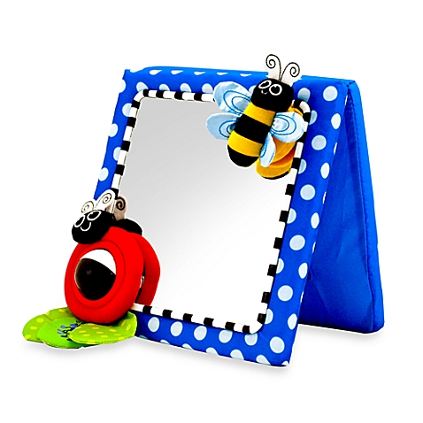 Toy Mirror sets up easily on the floor