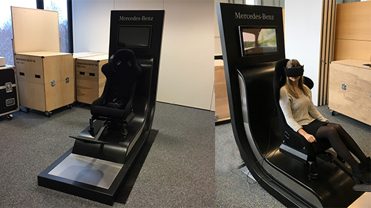 MERCEDES BENZ VR TEST DRIVE CHAIR