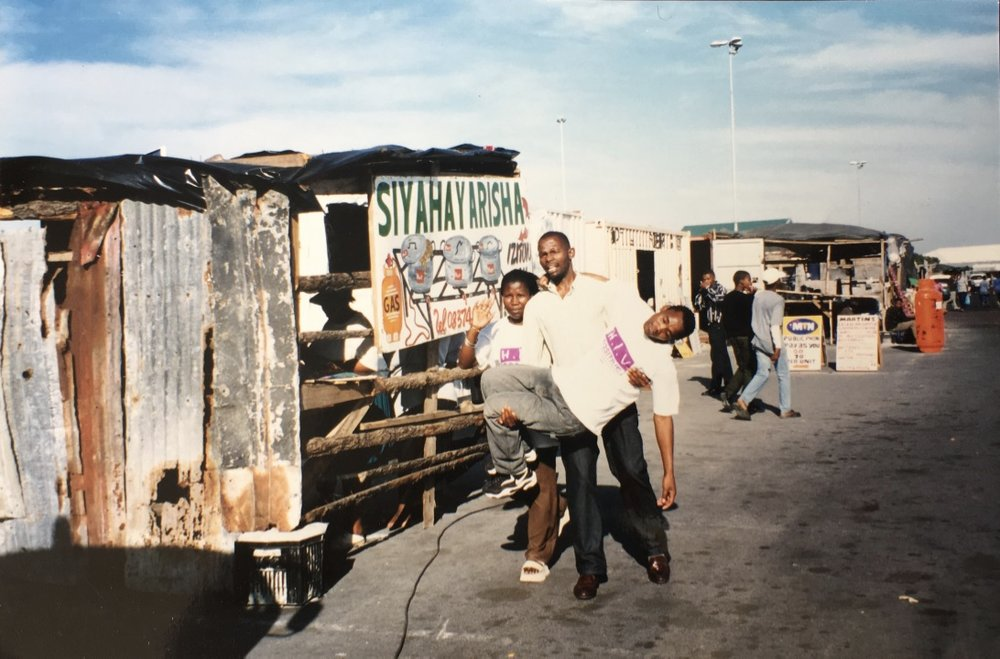 Treatment Action Campaign AIDS activists, reinterpreting Sam Nzima's iconic photograph of Hector Pieterson, Mbuyisa Makhubo, and Antoinette Sithole from the Soweto uprising. Gay and Lesbian Memory in Action Archives, Johannesburg.