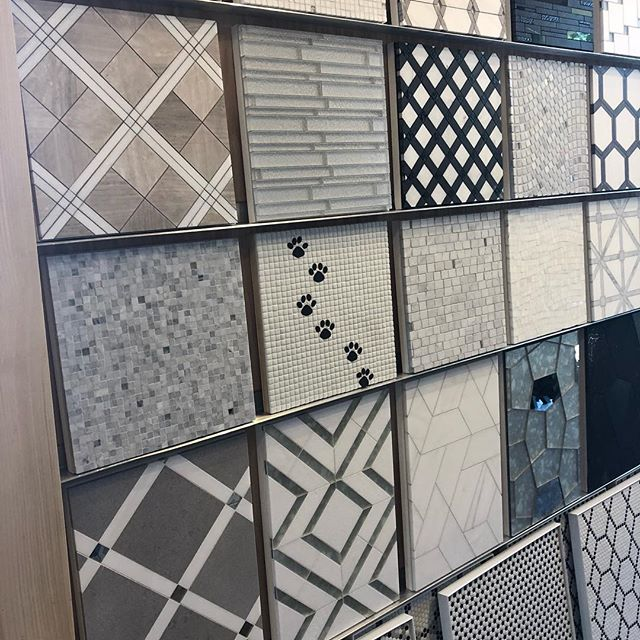 Look at our beautiful new mosaic tile collection from Maison Surface.  Come on in and see the new collection.  It's big! #quinnhome #mosaictile #tile #tilelove #tileporn #tiletuesday #tileinspiration #interiordesign #interiordesigner #bathroomdesign