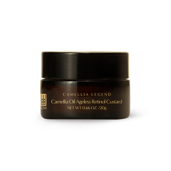 Camellia Oil Ageless Retinol Custard – Enhance Firmness and Boost Hydration - Camellia is known for its powerful antibiotics and anti-oxidant profile. Retinol as the gold standard ingredient can smooth wrinkles, stimulate cell renewal. Our unique encapsulation technology can not only protect Retinol from oxidation but also deliver it to the right skin receptor in the most potent and efficacious way. All the active ingredients are encapsulated in the core. By stimulating the production of collagen, elastin, and glycosaminoglycan this lotion can effectively reduce fine lines around eyes and promote a youthful appearance.