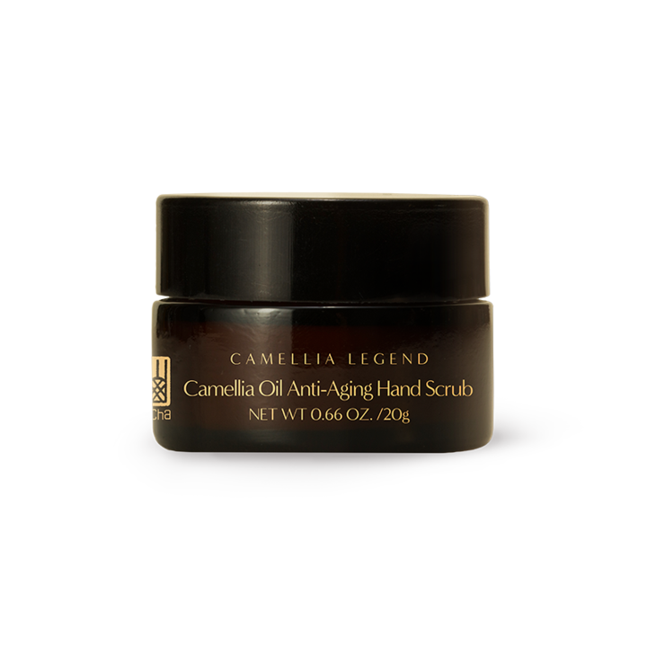 Camellia Anti-Aging Hand Scrub – Pamper Your Hands the Same Way - This is a luxurious formula. The role is not limited to moisturizing. The Squalene contained in camellia oil helps reinforce the skin's barrier. The formula also offers a gentle chemical exfoliation using Lactic Acid combined with a mechanical exfoliation using Jojoba Beads which blocks the melanosomes transfer and reduces visible dark spots. Hyaluronic Acid, an anti-aging gold standard, help to rejuvenate skin through stimulation of cell renewal, prevents visible hyperpigmentation, addressing signs of aging, hyperpigmentation, and loose, dry skin.