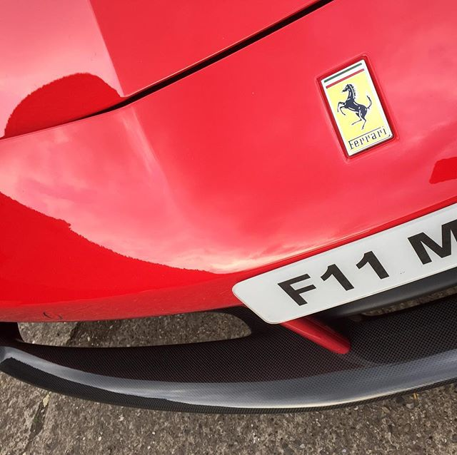 Close up of @modball63 carbon splitter  #carbon #carbonfibre #carbonfiber #fortiscomposites #ferrari #488 #ferrari488 #supercar #red #modballrally #modball #team63 #amazingcars247 #carsofinstagram
