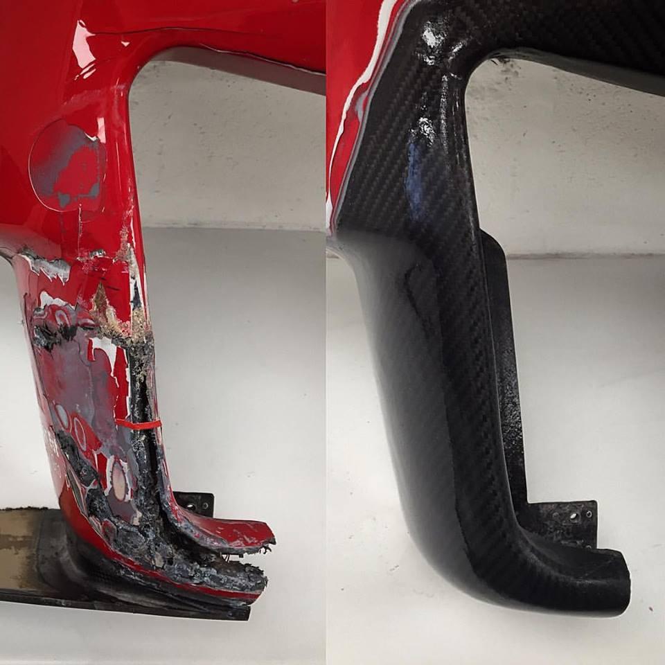 Ferrari 458 GT3 Rear Bumper Repair -