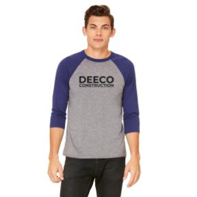DEECO - MERCH BASEBALL NAVY TRIBLEND FRONT.jpg