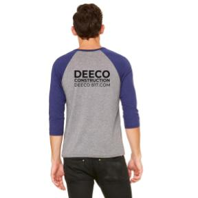 DEECO - MERCH BASEBALL NAVY TRIBLEND BACK.jpg
