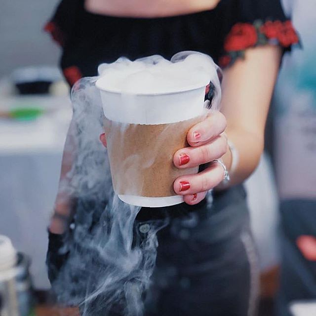 "Nothing says ""holiday spirit"" 🎁 like sipping a Frozen Hot Chocolate while shopping at Renegade Craft Brooklyn ☕️🍫 Catch us tomorrow only, 11-5pm!! 🌇 #cryocream 📷@renegadecraft . . . . . . . . #dessertporn #holidaydessert #nyc #brooklyn #holidaybakingchampionship #icecream #eggnog #nycfat  #nyceeeeeats #foodbeast #eatupnewyork #foodiesofinstagram #feedfeed #forkyeah #bestfood #nobsfood #buzzfeast #f52grams #tryitordiet #noleftovers #nycdining #foodgasm #topcitybites #eatfamous #thedailybite #eater #foodilysm #foodiegram #liquidnitrogenicecream"
