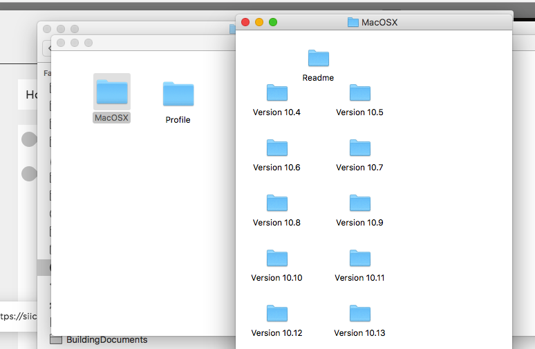 3. Open the Version folder that your mac is currently running.