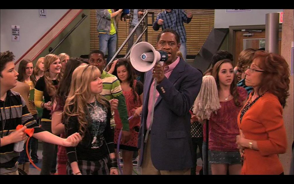 Tim Russ as 'Principal Franklin' on iCarly