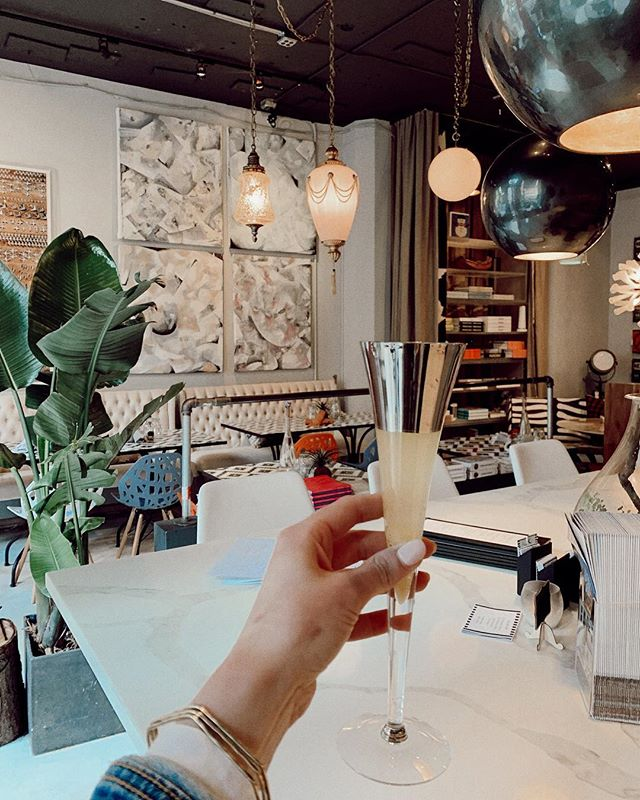 I found This Life Cafe [ @Marcblackwell ] right down the block from me, and let me tell ya... this life has been changed for the better. ✨  #obsessed #downtownseattle #seattlefoodie #seattle #mimosas #interiordesign #everydaymood #fridaymood #champagne #interiorstyling #designinspiration