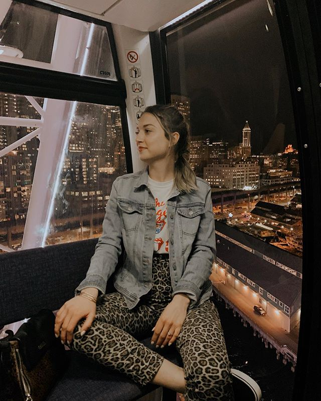 appropriately dressed for a Disney channel original movie casting... yet, I'll be 27 this year. Is this what denial looks like?  #ootd #leopardprint #bandtees #therollingstones #denimondenim #vans #disneychannel #whatsmyageagain #thestones #pnw #seattle #downtownseattle #seattlegreatwheel #pugetsound #bloggerstyle