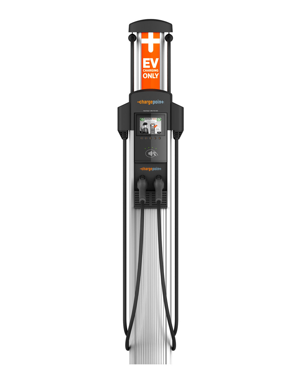 The CPF4021 dual pedestal model is ideal for businesses, municipalities and property owners that want to offer EV charging.