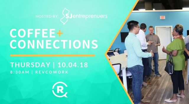Save the date! 📅 Next Thursday, October 4th at 8:30a, @sjentrepreneurs will be hosting next month's Coffee+Connections. ☕️ . If you are an entrepreneur from the area, or a young professional who would like to meet entrepreneurs, this event is a great way to start off your morning! . Your ticket includes quality Nitro Cold Brew Coffee and light breakfast items. . Tickets are in the bio. | Only $10 . . #RevCo #TheFutureIsComing #networking #coffee