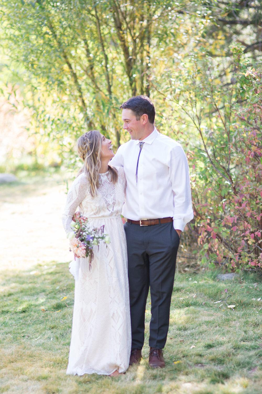 newlyweds first look happy love tahoe alpine meadows squaw