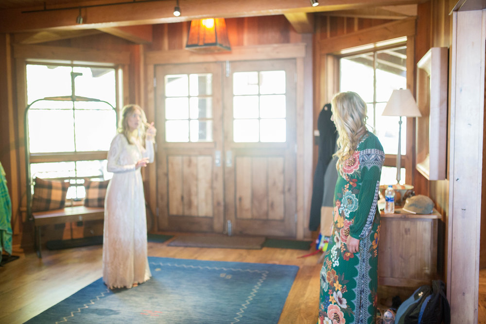 bride sunshine tahoe boho gown beach