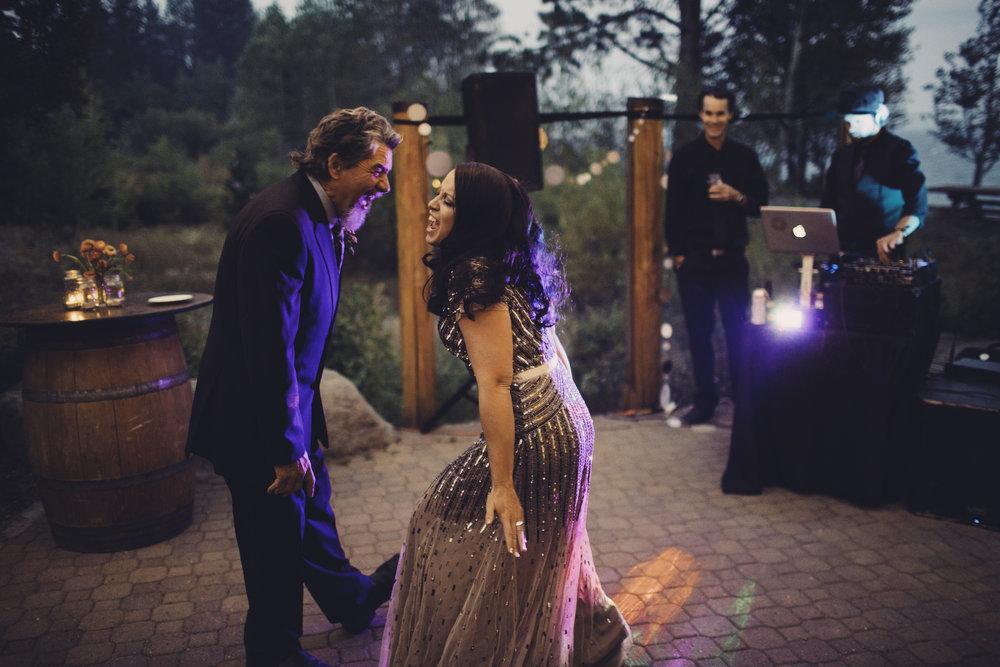 bride father daughter dance tahoe rock roll