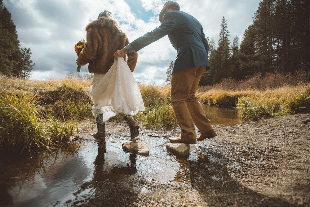 beautiful couple wedding lake tahoe mountain married planner