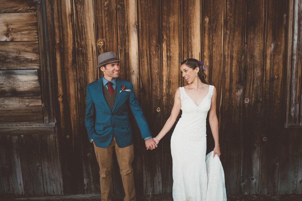 first look lake tahoe newlywed married webber lake campground wedding