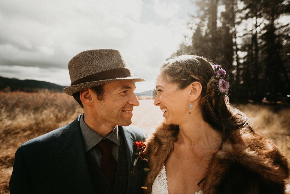 first look lake tahoe newlywed married webber lake campground wedding planner