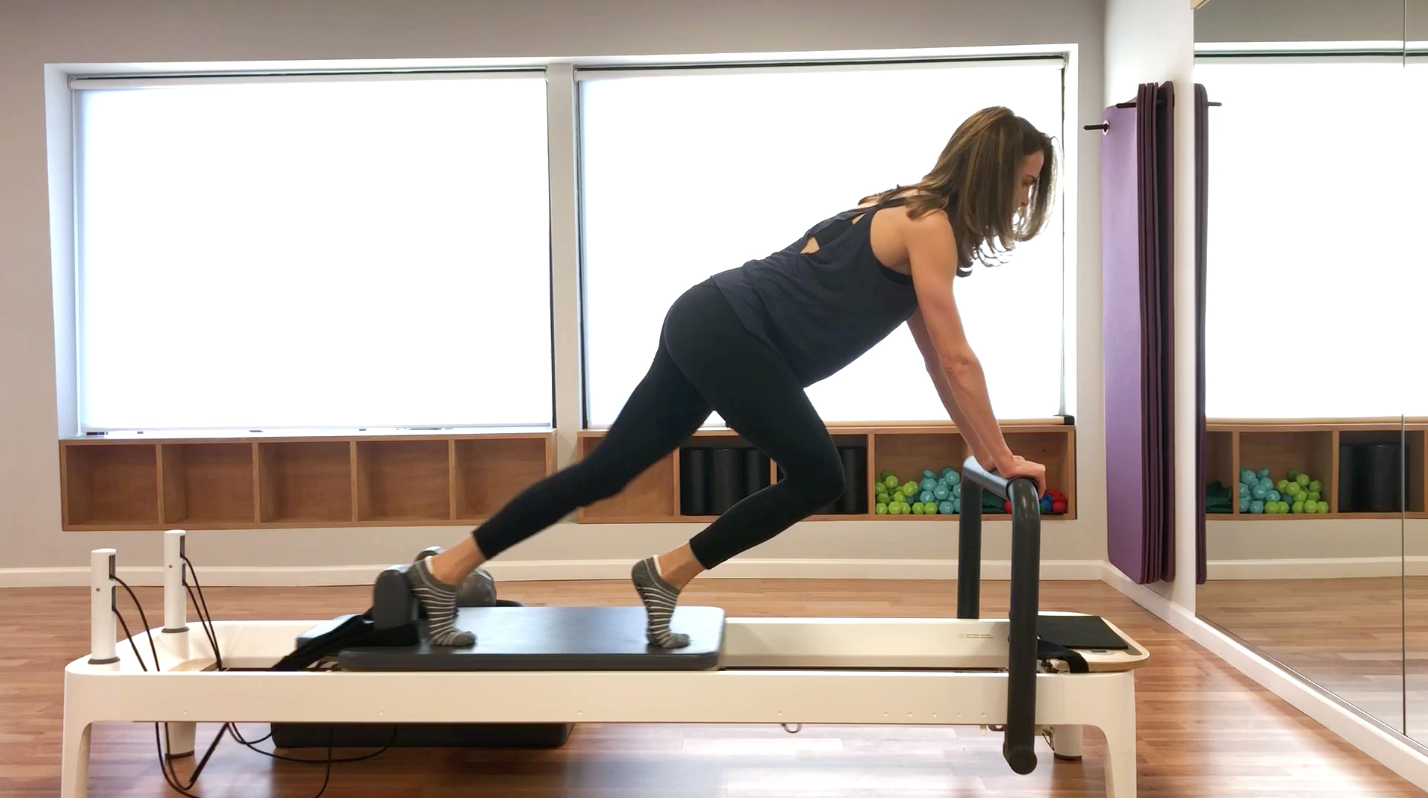 Pilates reformer sexy back arms